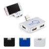 4-Port USB Hub with Phone Holder
