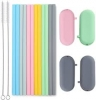 Silicone Straw Kit with Brush