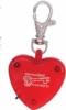 Light Up Heart Strobe Clip
