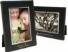 5 x 7 Black Wood Frame w/Silver Bevel