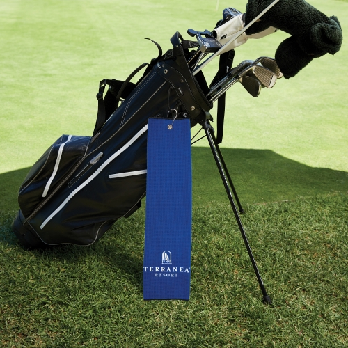 Microfiber Waffle Golf Towel with Tri-Fold Grommet (Embroidery)