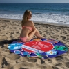 Custom Fiber Reactive Round Beach Towel
