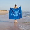Oversized Colored Beach Towel (Screen Print)