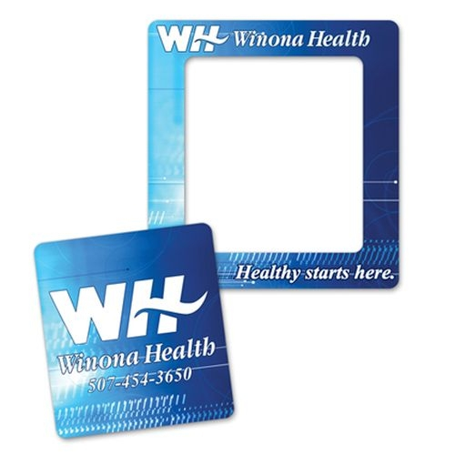 Full Color Magnet Frames w/ Rectangle Cut Out (3 1/2