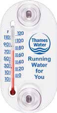 White Indoor / Outdoor Window Thermometer (4