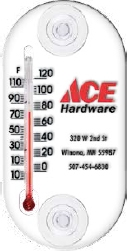Clear Indoor / Outdoor Window Thermometer (4