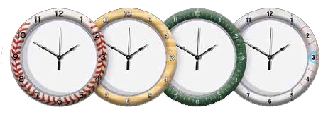 Full Color Case & Dial Wall Clock (10 3/4