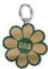Flower Inlaid Key Ring