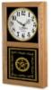 Chesapeake Wall Clock w/ Black & Gold Window Imprint (9