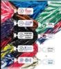 500 Strand Vinyl Pom Poms w/ Rectangle/ Token Handle (Unimprinted)