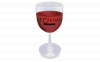 Here's-To-You Plastic Wine Glass