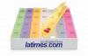 Rainbow Jumbo 24/7 Medicine Tray Organizer