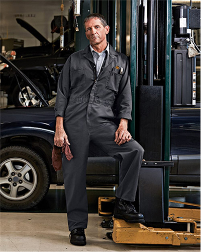 Twill Action Back Coverall Long Sizes