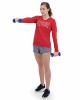 Women's Attain Wicking Long Sleeve V-Neck T-Shirt