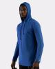 Tri-Blend Surplice Hooded Long Sleeve T-Shirt