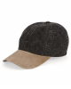 Washed Denim With Suede Bill Cap - 7611