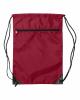 Zippered Drawstring Backpack - 8888