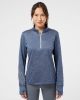 Women's Brushed Terry Heathered Quarter-Zip Pullover - A285