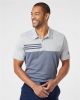 Heathered Colorblock 3-Stripes Sport Shirt