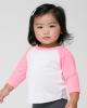 Infant Poly/Cotton Three-Quarter Sleeve Raglan Tee