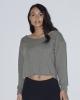 Women's Heavy Terry Athletic Crop Sweatshirt