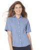 Women's Short Sleeve Stain Resistant Oxford Shirt