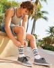 USA-Made Checkered Crew Socks