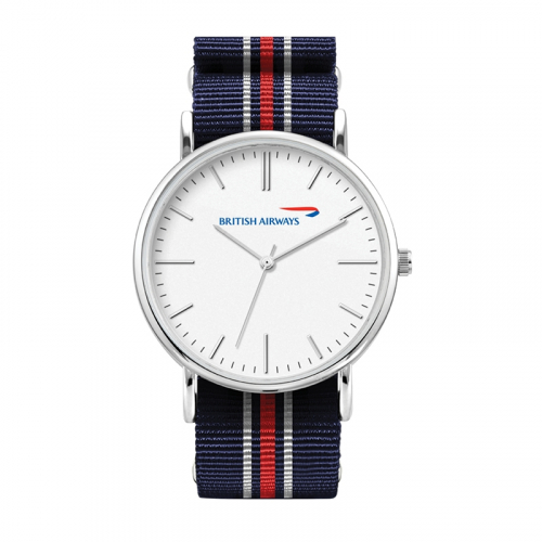 WC1558 38MM METAL SILVER CASE, 3 HAND MVMT, WHITE DIAL, NATO STRAP, FLAT MINERAL CRYSTAL, 3 ATM WTR RESISTA