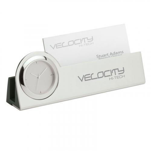 Struttura III Clock & Business Card Holder