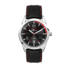 WC6232 42MM STEEL SILVER CASE, 3 HAND MVMT, BLACK DIAL, DTE DISPLAY, LEATHER STRAP, FLAT MINERAL CRYSTAL, 1