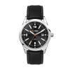 WC6234 42MM STEEL SILVER CASE, 3 HAND MVMT, BLACK DIAL, DTE DISPLAY, LEATHER STRAP, FLAT MINERAL CRYSTAL, 1