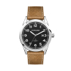 WC6238 42MM STEEL SILVER CASE, 3 HAND MVMT, BLACK DIAL, DTE DISPLAY, LEATHER STRAP, FLAT MINERAL CRYSTAL, 1