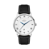 WC8116 39MM STEEL SILVER CASE, 3 HAND MVMT, DTE DISPLAY, WHITE DIAL, LEATHER STRAP, DOME MINERAL CRYSTAL, 3