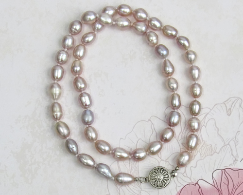 Pink Champagne Pearl Necklace