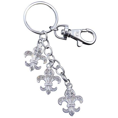 Fleur de Lys Key Chain with Purse Hook
