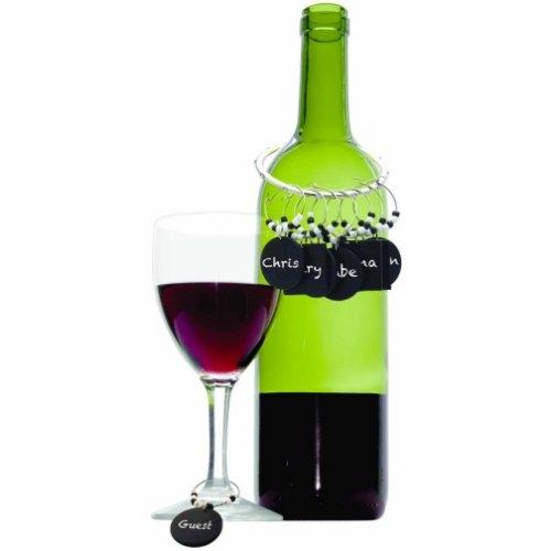 Chalkboard Wine Charm Set