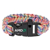 Rainbow Paracord Bracelet with Whistle