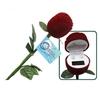 Long Stem Rose with Genuine Pearl Earrings