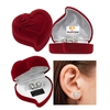 Cubic Zirconia Earrings with Heart