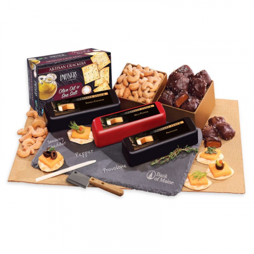 Genuine Slate Shelf-Stable Cheese Plate with Party Favorites