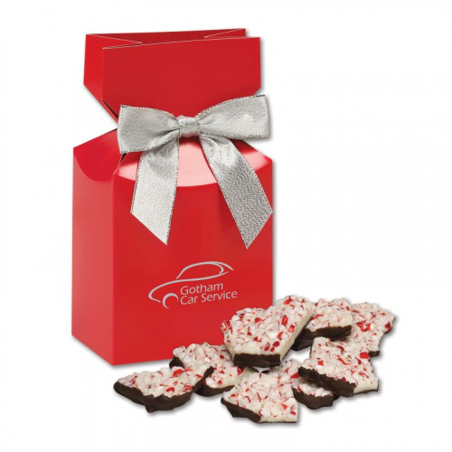 Peppermint Bark in Red Premium Delights Gift Box