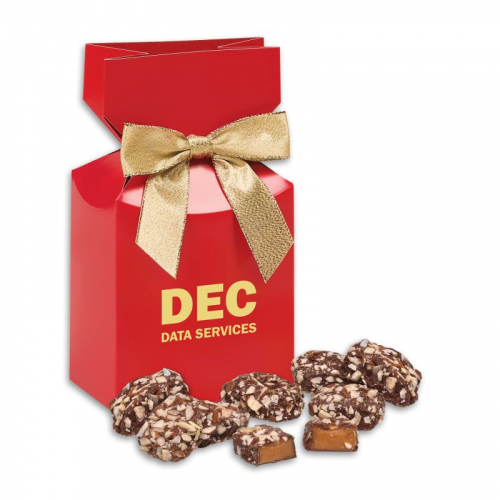 English Butter Toffee in Red Premium Delights Gift Box