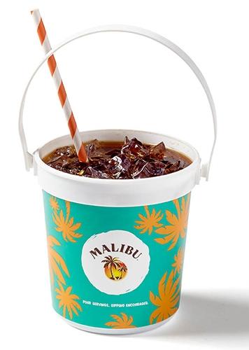 16 Oz. Full Color Plastic Drink Pail