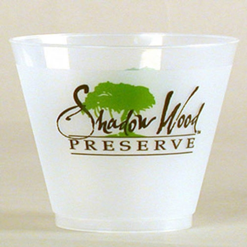 9 Oz. Frost Flex Plastic Squat Cup (Silk Screen Printing)
