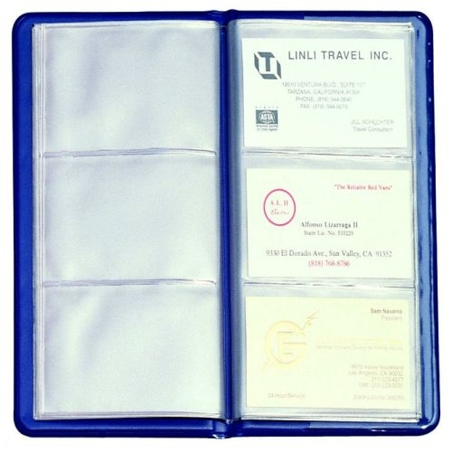 Stock Vinyl Business Card File