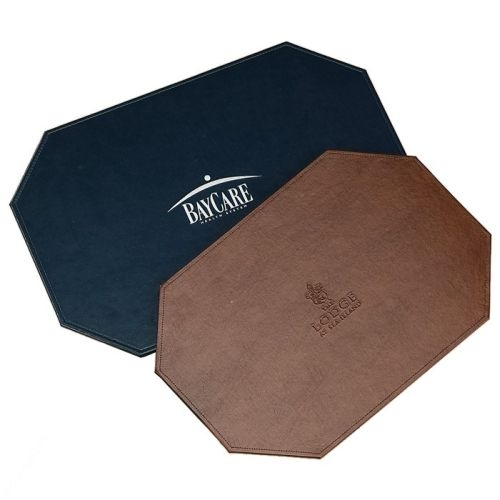 Octagonal or Rectangular Leather Placemat