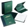 Book Cloth 19 Hole Punch Extension Executive Portfolio Wrap