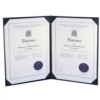 Deluxe Saver Certificate Covers w/ 8 Ribbon Corners (8 1/2