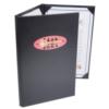 Leatherette 3 Fold Panel Pocket Menu Cover (8 1/2