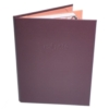 Leatherette Book Style 4 View Menu Cover (8 1/2